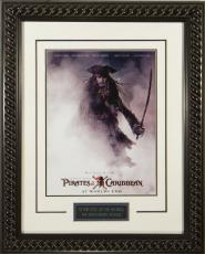 Pirates of the Caribbean: At World's End unsigned 20x28 Masterprint Movie Poster Custom Rope Framed Johnny Depp (entertainment/p