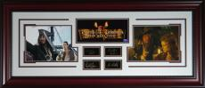 "Autographed Johhny Depp and Orlando Bloom Photo - Of The Caribbean"" - Engraved Display"