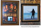 Pirates of the Caribbean - Johnny Depp Signed - Autographed 8x10 inch Photo Custom FRAMED into the Movie Poster - Guaranteed to pass PSA or JSA
