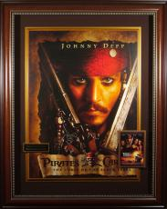 Pirates of the Caribbean Johnny Depp Signed Movie Poster Fra