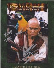 Pirates of the Caribbean MARTIN KLEBBA Signed 8x10 Photo