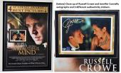 A Beautiful Mind - Russell Crowe and Jennifer Connelly Signed - Autographed 8x10 inch Photo Custom FRAMED into the Movie Poster - Guaranteed to pass PSA or JSA