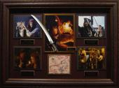 Pirates of the Caribbean Cast Signed Treasure Map Framed Dis