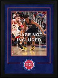 """Detroit Pistons Deluxe 16"""" x 20"""" Frame"""