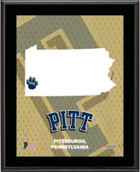 "Pitt Panthers Sublimated 10.5"" x 13"" State Plaque"