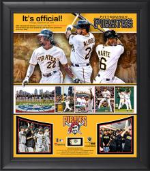 "Pittsburgh Pirates 2013 Playoff Clinching Framed 15"" x 17"" Collage with Piece of Game-Used Ball - Limited Edition of 500"