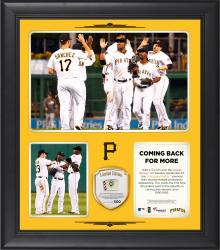 "Pittsburgh Pirates Back to Back Playoff Appearance Framed 15"" x 17"" Collage with Game-Used Ball Limited Edition of 500"