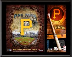 Pittsburgh Pirates Sublimated 12'' x 15'' Team Logo Plaque - Mounted Memories