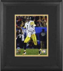 "Pittsburgh Steelers Ben Roethlisberger Super Bowl XLIII Champions Framed Autographed 8"" x 10"" Photo"
