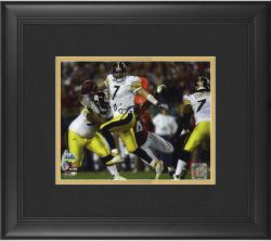 "Pittsburgh Steelers Ben Roethlisberger Super Bowl XLIII Framed Autographed 8"" x 10"" Photo"