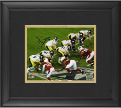 "Pittsburgh Steelers Ben Roethlisberger Super Bowl XLIII Framed Autographed 8"" x 10"" Under Center Photo"