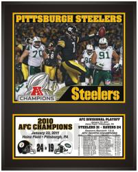Pittsburgh Steelers 2010 AFC Conference Champions Sublimated 12'' x 15'' Photo - Mounted Memories