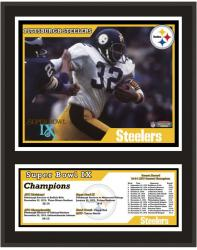 """Pittsburgh Steelers 12"""" x 15"""" Sublimated Plaque - Super Bowl IX"""