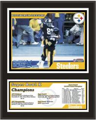 "Pittsburgh Steelers 12"" x 15"" Sublimated Plaque - Super Bowl X"