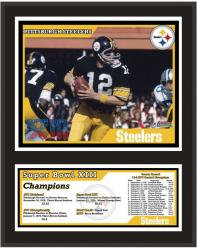 """Pittsburgh Steelers 12"""" x 15"""" Sublimated Plaque - Super Bowl XIII"""