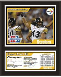 """Pittsburgh Steelers 12"""" x 15"""" Sublimated Plaque - Super Bowl XL"""