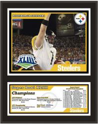 """Pittsburgh Steelers 12"""" x 15"""" Sublimated Plaque - Super Bowl XLIII"""