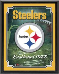 "Pittsburgh Steelers Team Logo Sublimated 10.5"" x 13"" Plaque"