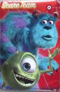 PIXAR CLASSIC! John Goodman Billy Crystal Signed MONSTERS INC 34x22.5 Poster PSA