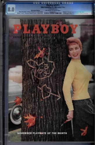 Playboy Magazine V2 #11 Nov 1955 Hmh Pub Cgc 8.0 Oww Barbara Cameron #0950829011