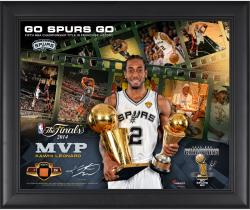 "Kawhi Leonard San Antonio Spurs 2014 NBA Finals Champions MVP Framed 16"" x 20"" Film Strip Composite with Piece of Team-Used Basketball-Limited Edition of 250"