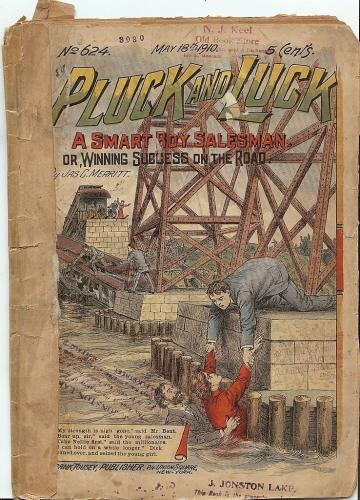 Pluck and Luck #624 1910 Pulp Magazine Authentic