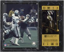 Oakland Raiders Super Bowl XV Jim Plunkett Plaque with Replica Ticket