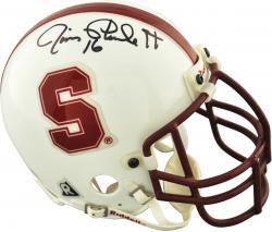 Jim Plunkett Stanford Cardinals Autographed Riddell Mini Helmet