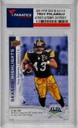 POLAMALU, TROY AUTO (2009 UPPER DECK SB XLIII # 41) CARD - Mounted Memories
