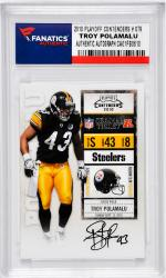 POLAMALU, TROY AUTO (2010 PLAYOFF CONTENDERS # 079) CARD - Mounted Memories