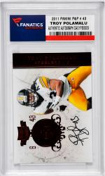 POLAMALU, TROY AUTO (2011 PANINI P&P # 43) CARD - Mounted Memories