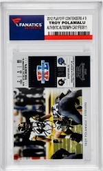 POLAMALU, TROY AUTO (2012 PLAYOFF CONTENDERS # 9) CARD - Mounted Memories
