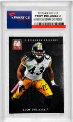POLAMALU, TROY AUTO (2013 PANINI ELITE # 79) CARD - Mounted Memories