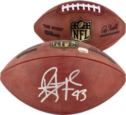 Troy Polamalu Pittsburgh Steelers Autographed Duke Pro Football - Mounted Memories