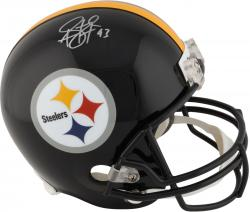 Troy Polamalu Pittsburgh Steelers Autographed Riddell Replica Helmet - Mounted Memories