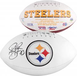 Troy Polamalu Pittsburgh Steelers Autographed White Panel Football