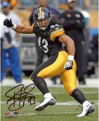 Troy Polamalu Pittsburgh Steelers Autographed 8'' x 10'' Running Photograph