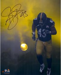 Troy Polamalu Pittsburgh Steelers Autographed 16'' x 20'' Smoke Photograph