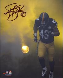 Troy Polamalu Pittsburgh Steelers Autographed 8'' x 10'' Smoke Photograph