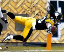 Troy Polamalu Pittsburgh Steelers Autographed 16'' x 20'' TD Dive Photograph