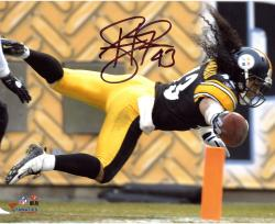 Troy Polamalu Pittsburgh Steelers Autographed 8'' x 10'' TD Dive Photograph