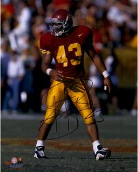 "Troy Polamalu USC Trojans Autographed 16"" x 20"" Photograph"