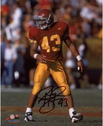 "Troy Polamalu USC Trojans Autographed 8"" x 10"" Photograph"