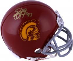 Troy Polamalu USC Trojans Autographed Riddell Mini Helmet