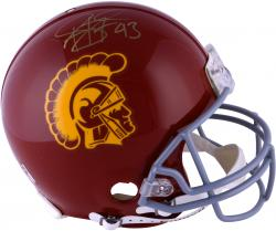Troy Polamalu USC Trojans Autographed Riddell Pro-Line Authentic Helmet - Mounted Memories