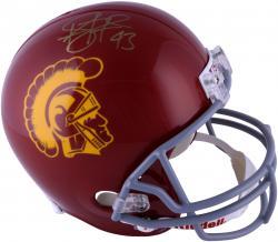 Troy Polamalu USC Trojans Autographed Riddell Replica Helmet
