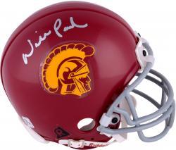 Will Poole USC Trojans Autographed Riddell Mini Helmet