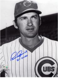 "Paul Popovich Chicago Cubs Autographed 8"" x 10"" Head Shot Photograph with 69 Cubs Inscription"