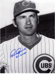 "Paul Popovich Chicago Cubs Autographed 8"" x 10"" Head Shot Photograph with 69 Cubs Inscription"
