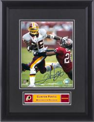 "Clinton Portis Washington Redskins Framed Autographed 8"" x 10"" Photograph - Mounted Memories"